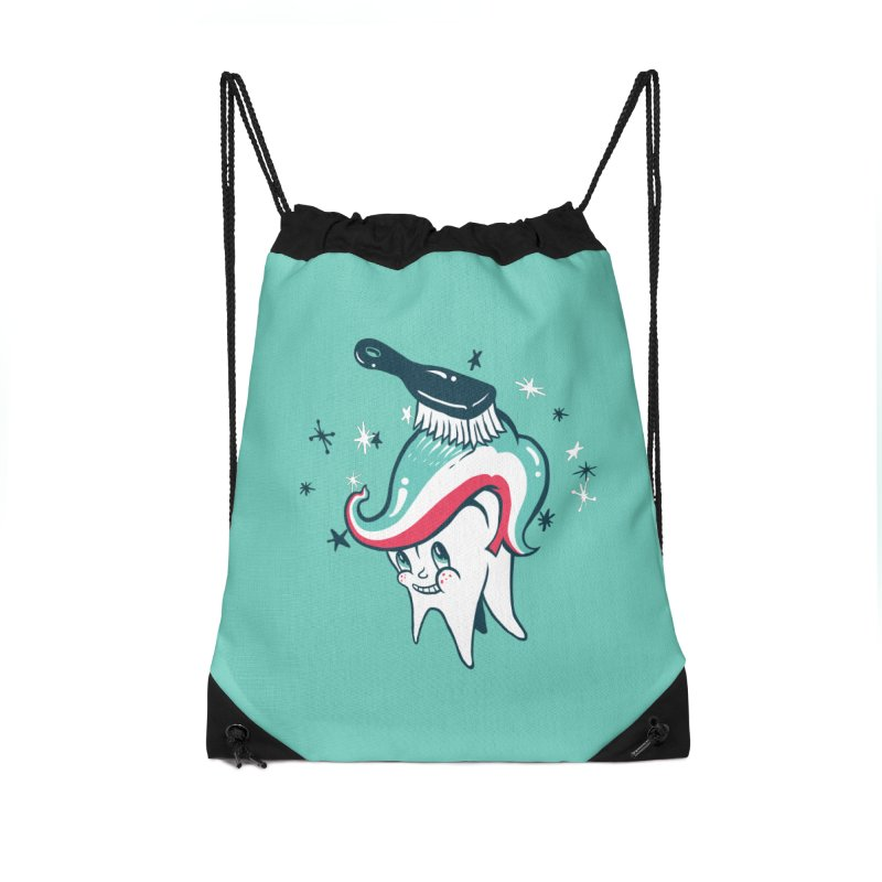 Toothbrush Accessories Drawstring Bag Bag by danrule's Artist Shop