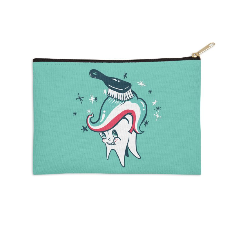 Toothbrush Accessories Zip Pouch by danrule's Artist Shop