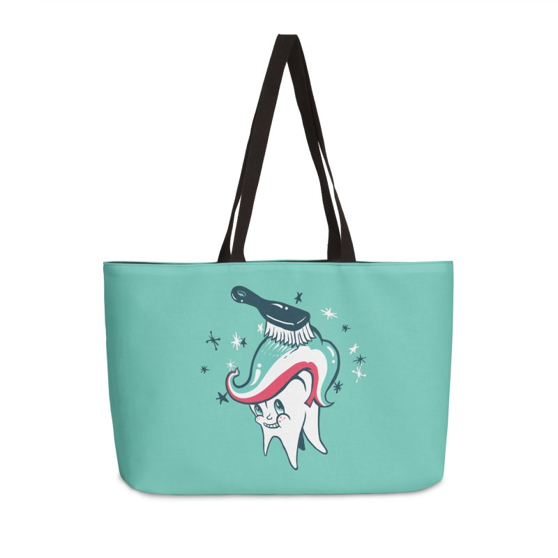 Toothbrush Accessories Weekender Bag Bag by danrule's Artist Shop