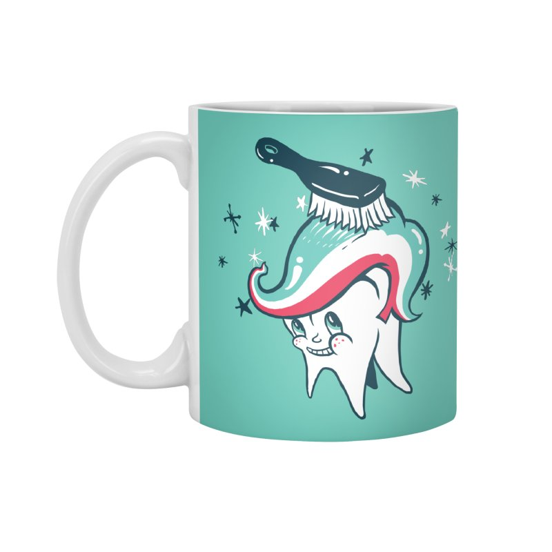 Toothbrush Accessories Mug by danrule's Artist Shop