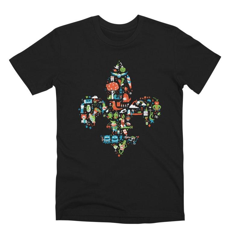 Fleur De Life Men's Premium T-Shirt by Dan Rule's Artist Shop