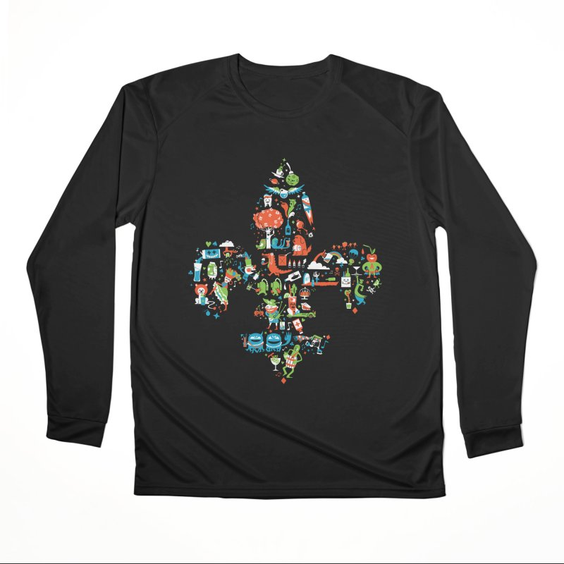 Fleur De Life Women's Performance Unisex Longsleeve T-Shirt by Dan Rule's Artist Shop