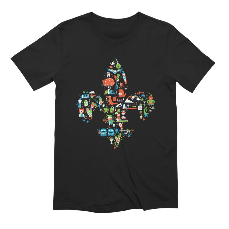 Fleur De Life Men's Extra Soft T-Shirt by Dan Rule's Artist Shop