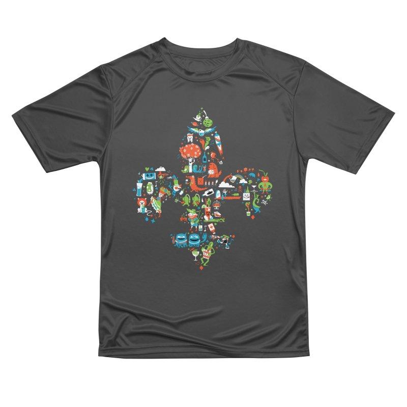 Fleur De Life Men's Performance T-Shirt by Dan Rule's Artist Shop