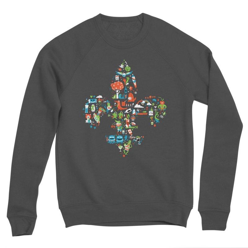 Fleur De Life Men's Sponge Fleece Sweatshirt by Dan Rule's Artist Shop