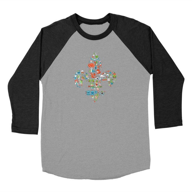 Fleur De Life Women's Baseball Triblend Longsleeve T-Shirt by Dan Rule's Artist Shop