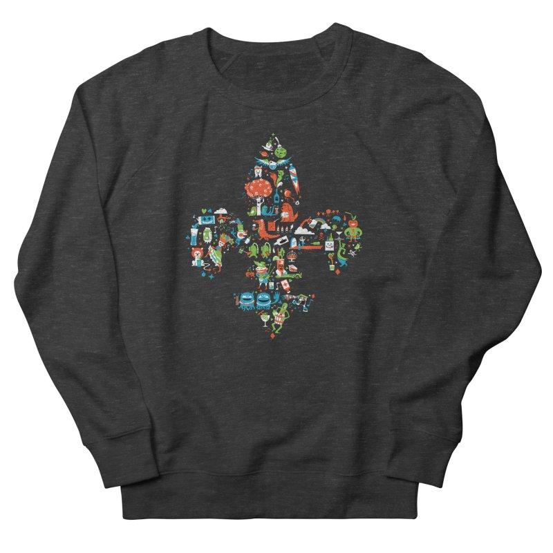 Fleur De Life Men's French Terry Sweatshirt by Dan Rule's Artist Shop