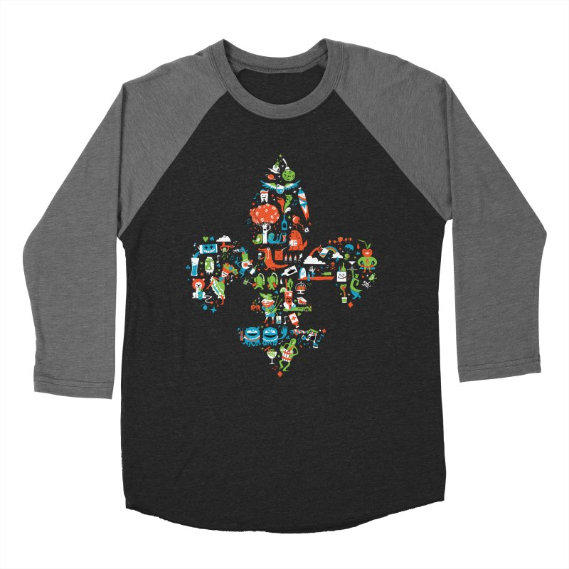 Fleur De Life Men's Baseball Triblend Longsleeve T-Shirt by Dan Rule's Artist Shop