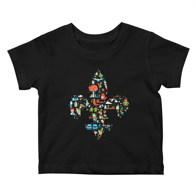 Fleur De Life Kids Baby T-Shirt by Dan Rule's Artist Shop