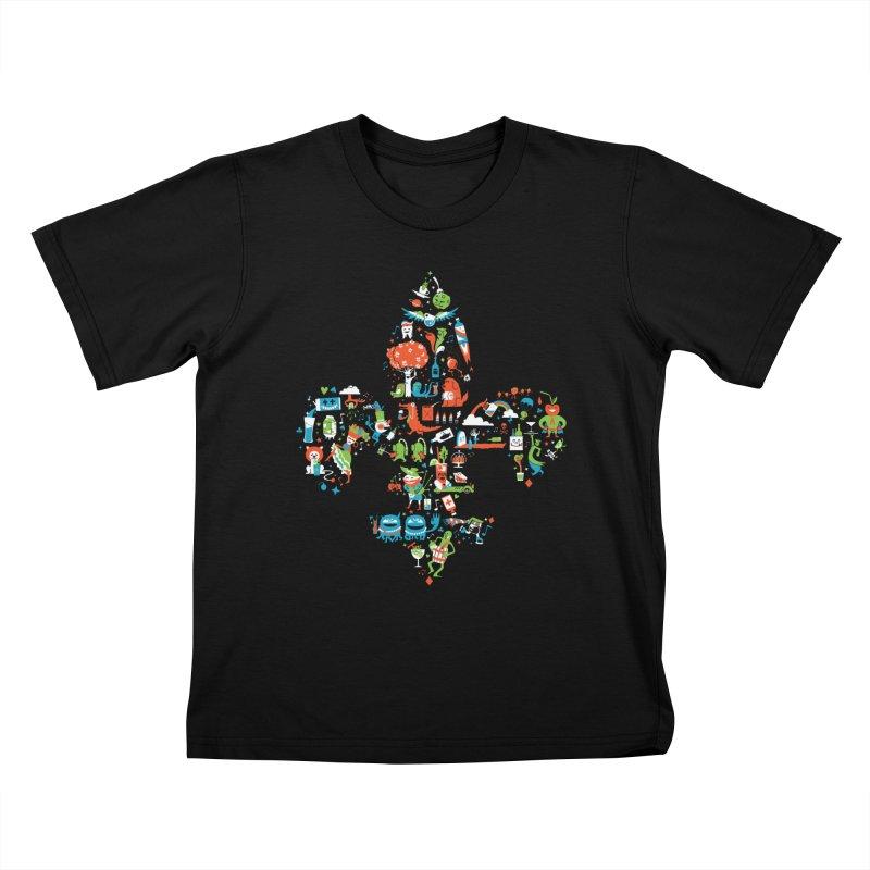 Fleur De Life Kids T-Shirt by Dan Rule's Artist Shop