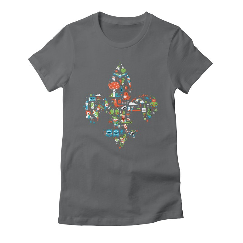 Fleur De Life Women's Fitted T-Shirt by Dan Rule's Artist Shop