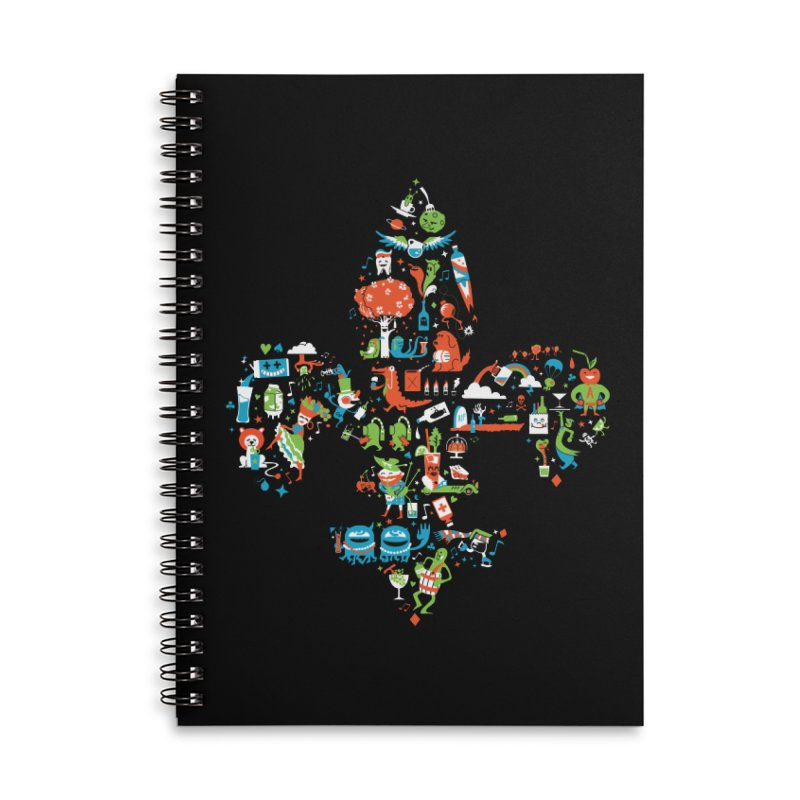 Fleur De Life Accessories Lined Spiral Notebook by Dan Rule's Artist Shop
