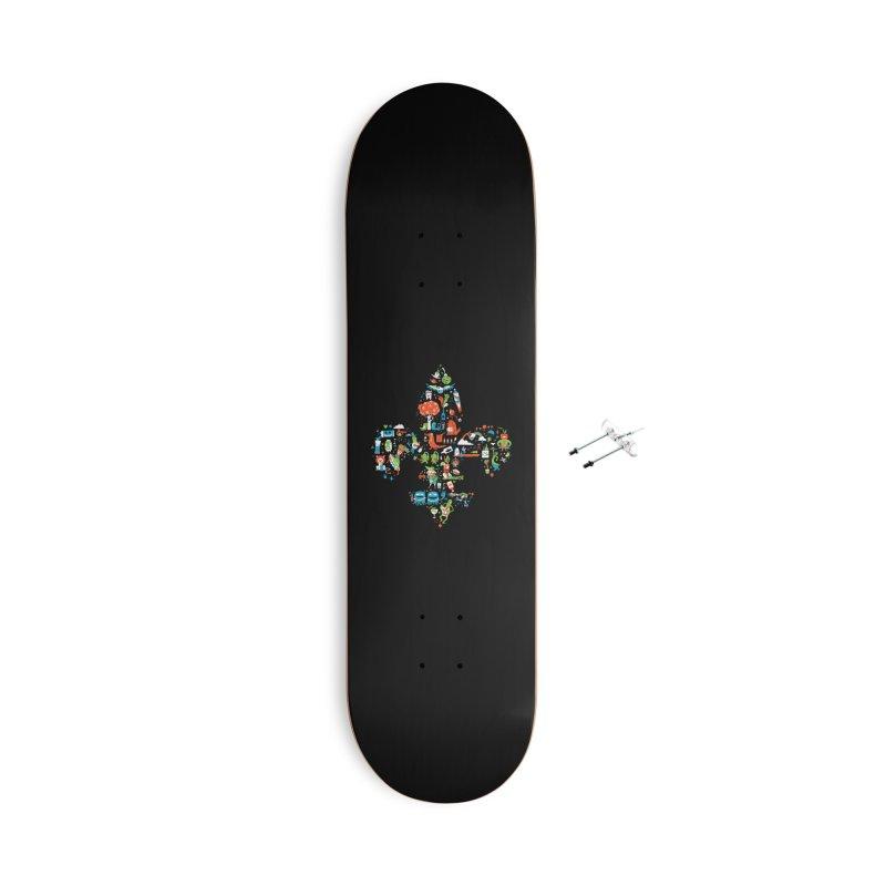 Fleur De Life Accessories With Hanging Hardware Skateboard by Dan Rule's Artist Shop
