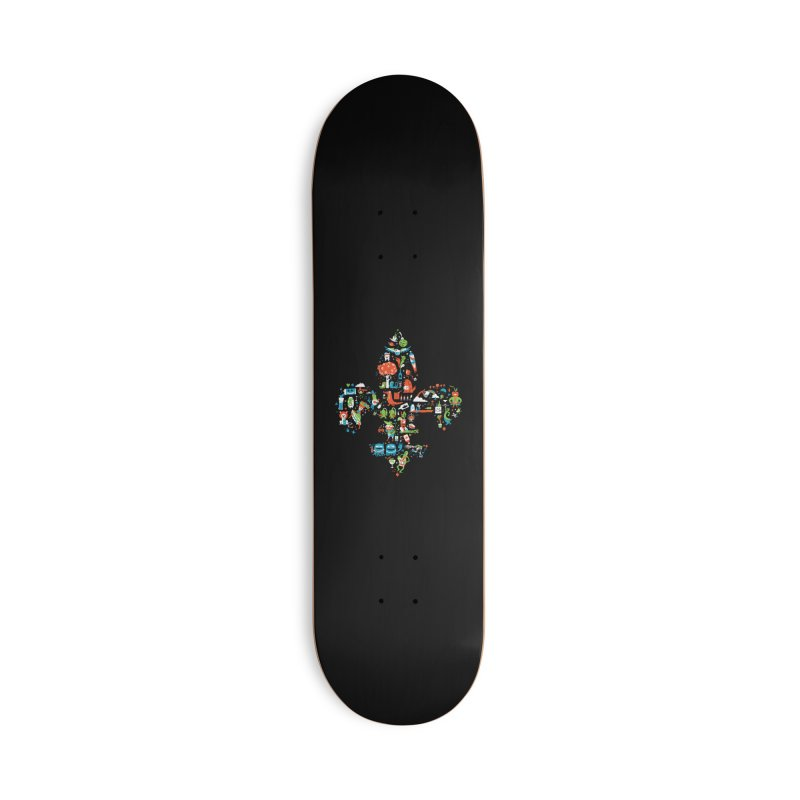 Fleur De Life Accessories Deck Only Skateboard by Dan Rule's Artist Shop
