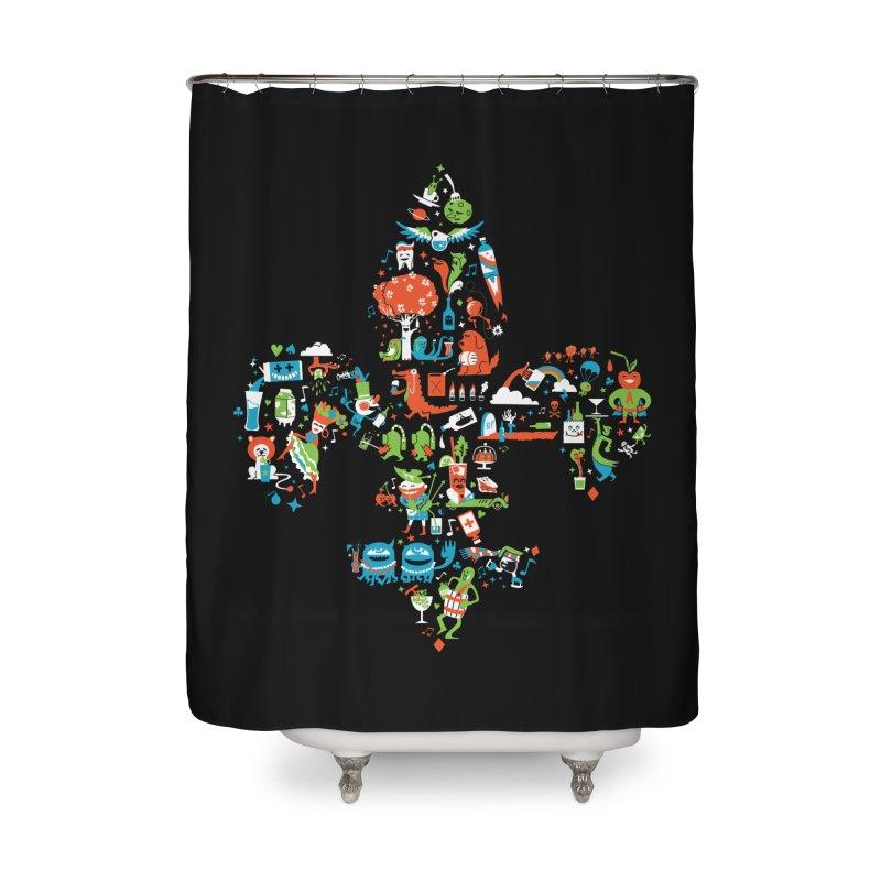 Fleur De Life Home Shower Curtain by Dan Rule's Artist Shop