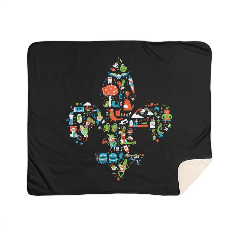 Fleur De Life Home Sherpa Blanket Blanket by Dan Rule's Artist Shop
