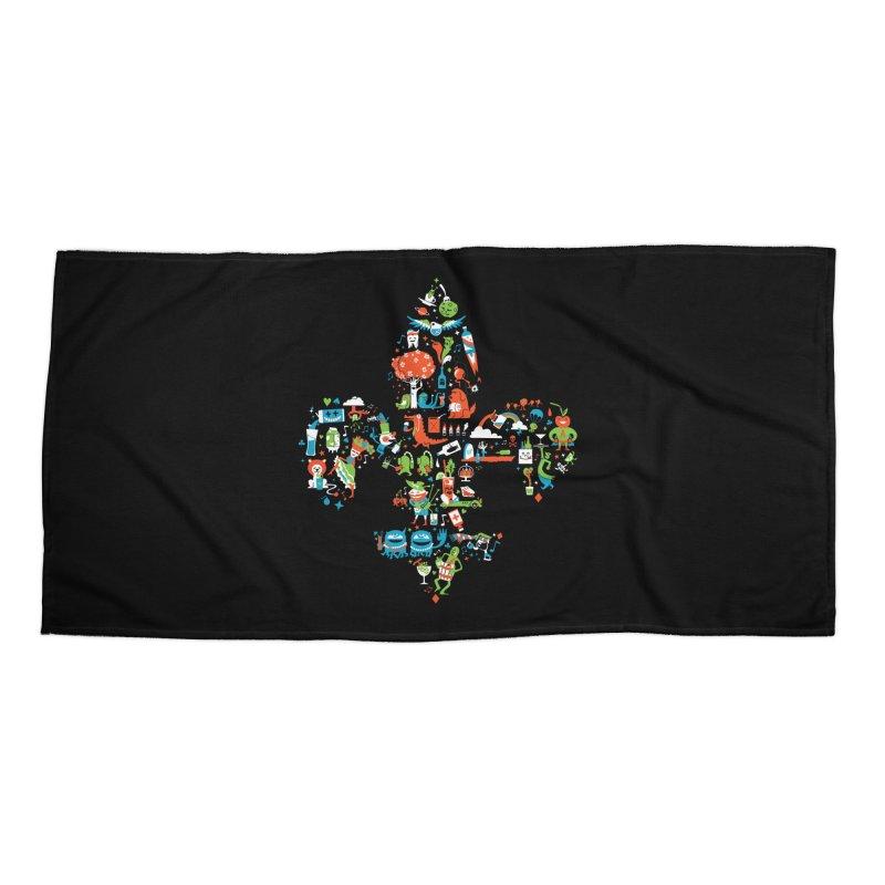 Fleur De Life Accessories Beach Towel by Dan Rule's Artist Shop