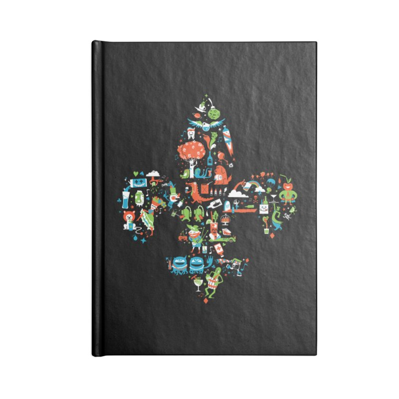 Fleur De Life Accessories Lined Journal Notebook by Dan Rule's Artist Shop