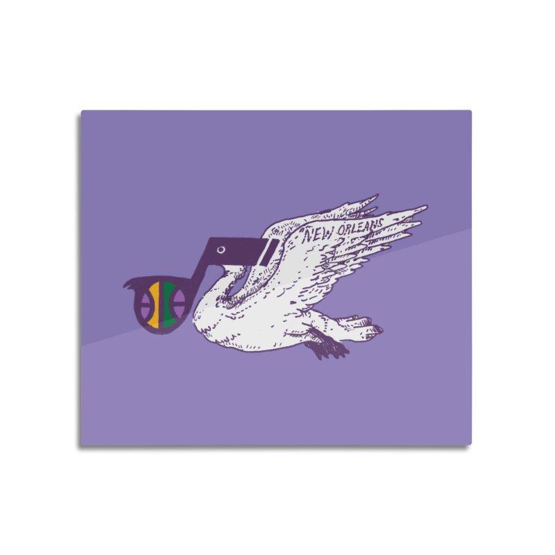 Jazzy Pelican Home Mounted Acrylic Print by Dan Rule's Artist Shop