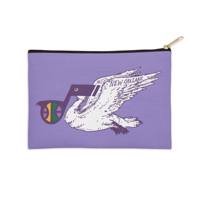 Jazzy Pelican Accessories Zip Pouch by Dan Rule's Artist Shop