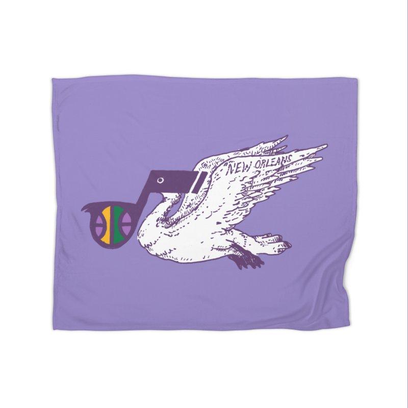 Jazzy Pelican Home Fleece Blanket Blanket by Dan Rule's Artist Shop