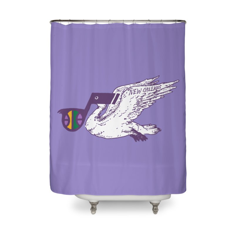 Jazzy Pelican Home Shower Curtain by Dan Rule's Artist Shop