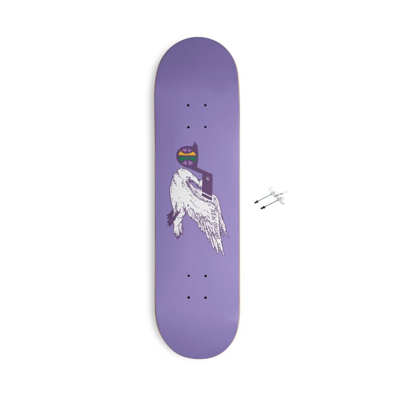 Jazzy Pelican Accessories With Hanging Hardware Skateboard by Dan Rule's Artist Shop