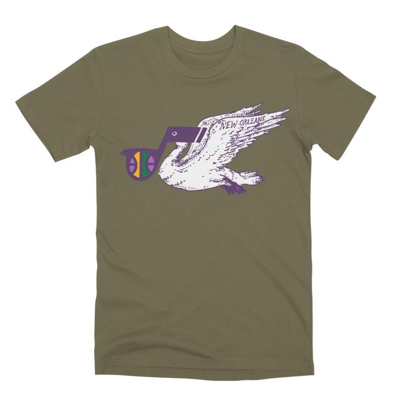 Jazzy Pelican Men's Premium T-Shirt by Dan Rule's Artist Shop