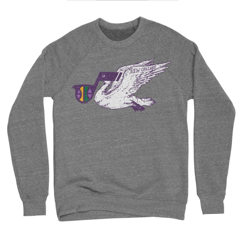 Jazzy Pelican Women's Sponge Fleece Sweatshirt by Dan Rule's Artist Shop
