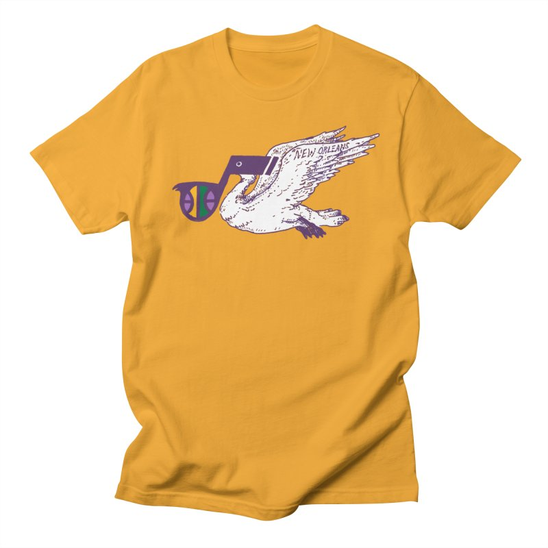 Jazzy Pelican Women's Regular Unisex T-Shirt by Dan Rule's Artist Shop