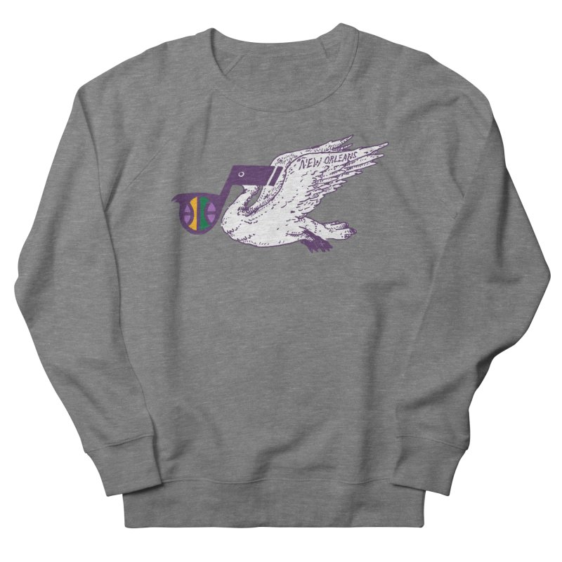 Jazzy Pelican Women's French Terry Sweatshirt by Dan Rule's Artist Shop