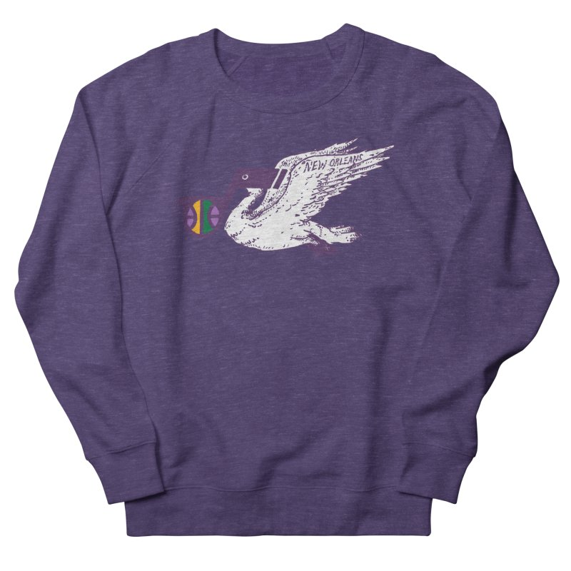 Jazzy Pelican Men's French Terry Sweatshirt by Dan Rule's Artist Shop