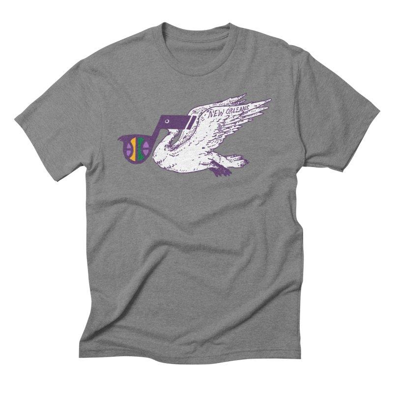 Jazzy Pelican Men's T-Shirt by Dan Rule's Artist Shop