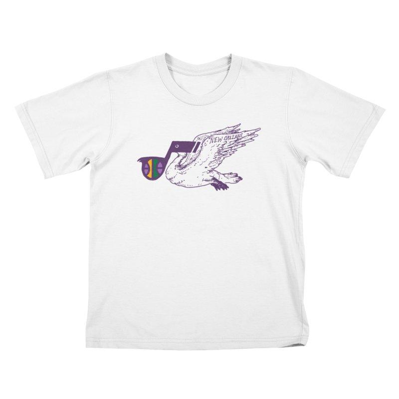 Jazzy Pelican Kids T-Shirt by Dan Rule's Artist Shop