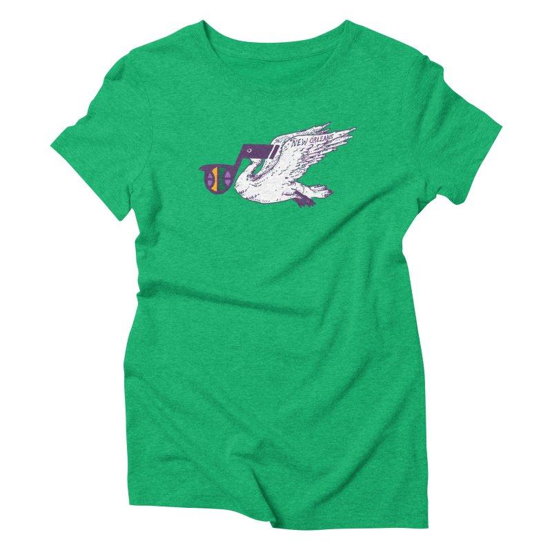 Jazzy Pelican Women's Triblend T-Shirt by Dan Rule's Artist Shop
