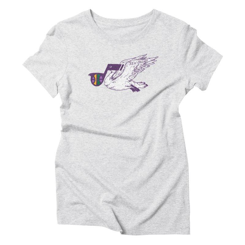 Jazzy Pelican Women's T-Shirt by Dan Rule's Artist Shop