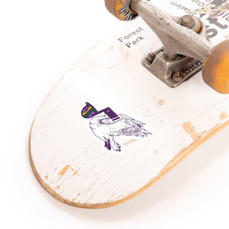 Jazzy Pelican Accessories Sticker by Dan Rule's Artist Shop