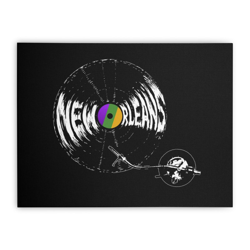 Spin Home Stretched Canvas by Dan Rule's Artist Shop