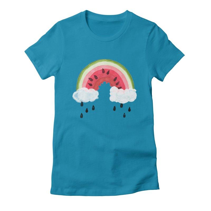 Summer Women's Fitted T-Shirt by danrule's Artist Shop
