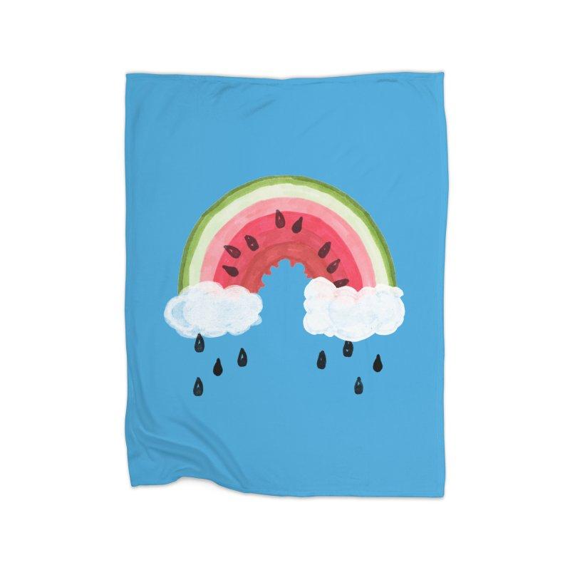 Summer Home Fleece Blanket Blanket by Dan Rule's Artist Shop