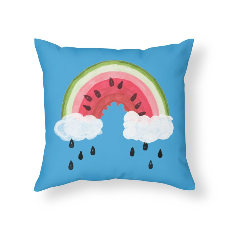 Summer Home Throw Pillow by danrule's Artist Shop