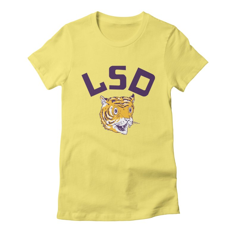 Geaux Tiger Women's Fitted T-Shirt by danrule's Artist Shop