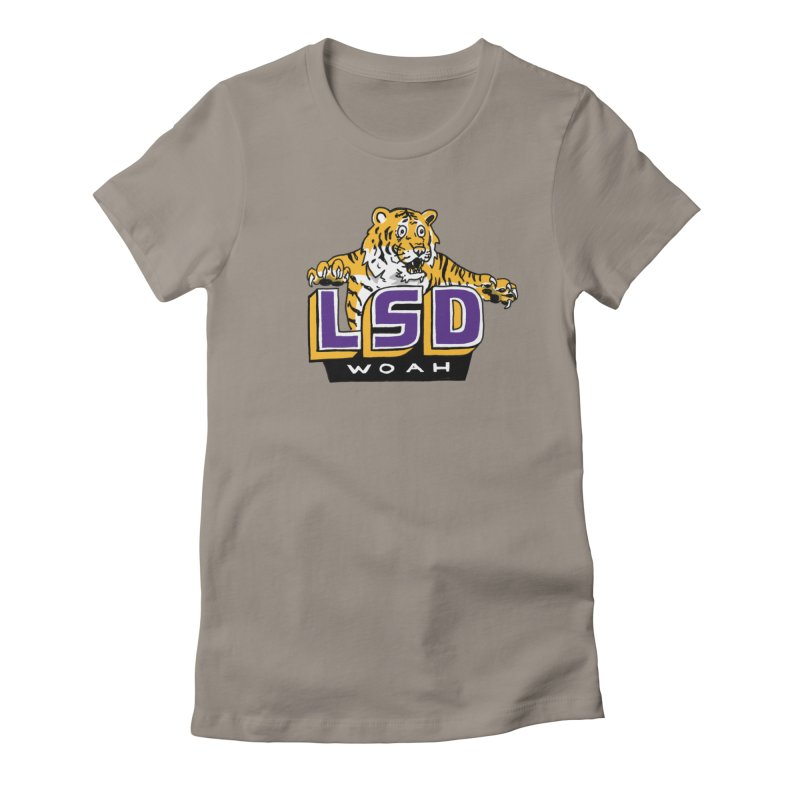 Geaux Tiger Women's Fitted T-Shirt by Dan Rule's Artist Shop
