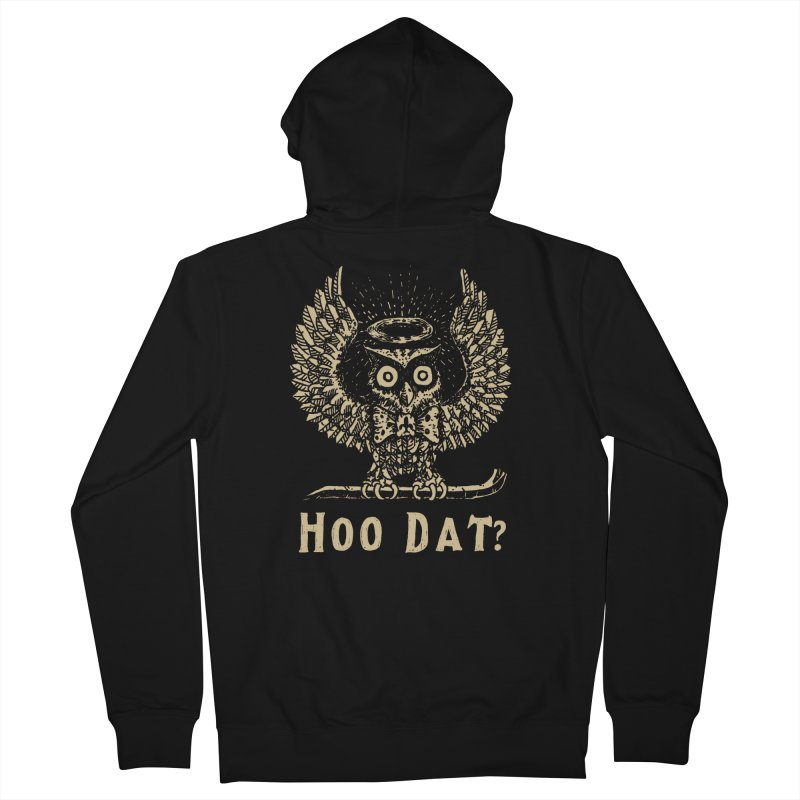 Hoo dat Men's French Terry Zip-Up Hoody by danrule's Artist Shop