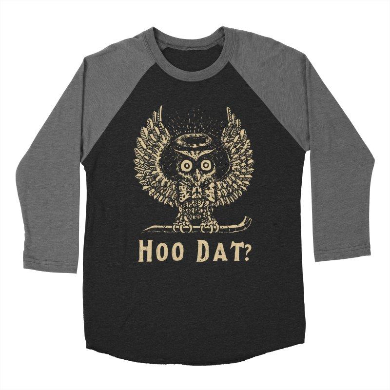 Hoo dat Men's Baseball Triblend Longsleeve T-Shirt by danrule's Artist Shop