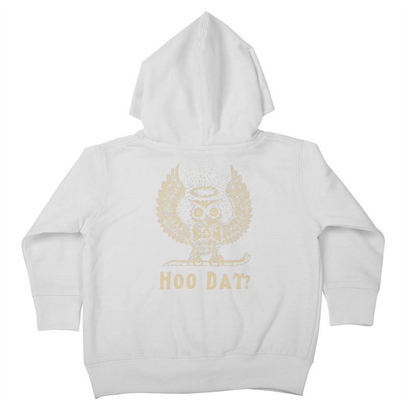 Hoo dat Kids Toddler Zip-Up Hoody by danrule's Artist Shop