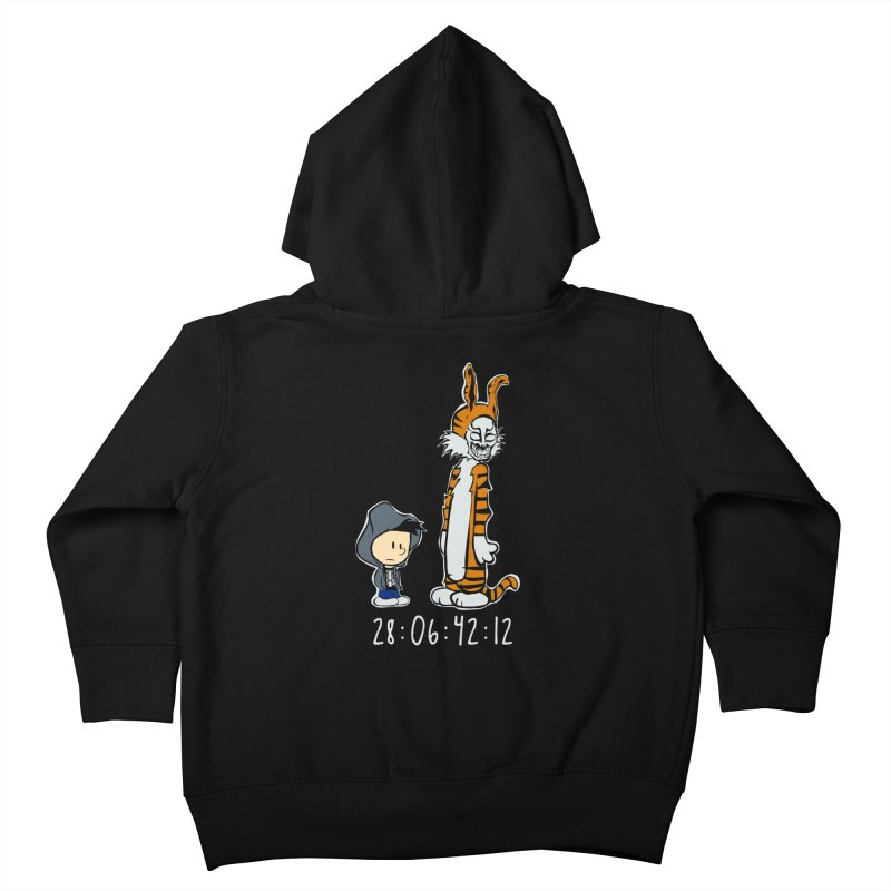 Darko and Hobbes Kids Toddler Zip-Up Hoody by dansmash's Artist Shop