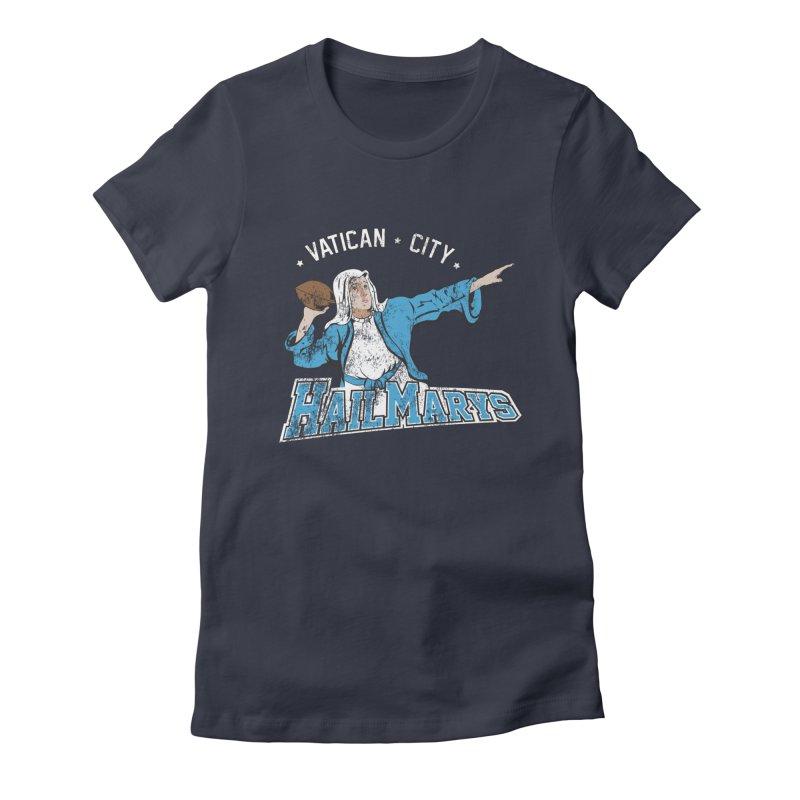 Vatican City Hailmarys Women's Fitted T-Shirt by dansmash's Artist Shop