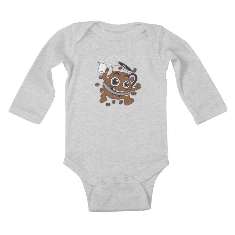 Coffee! Kids Baby Longsleeve Bodysuit by dansmash's Artist Shop