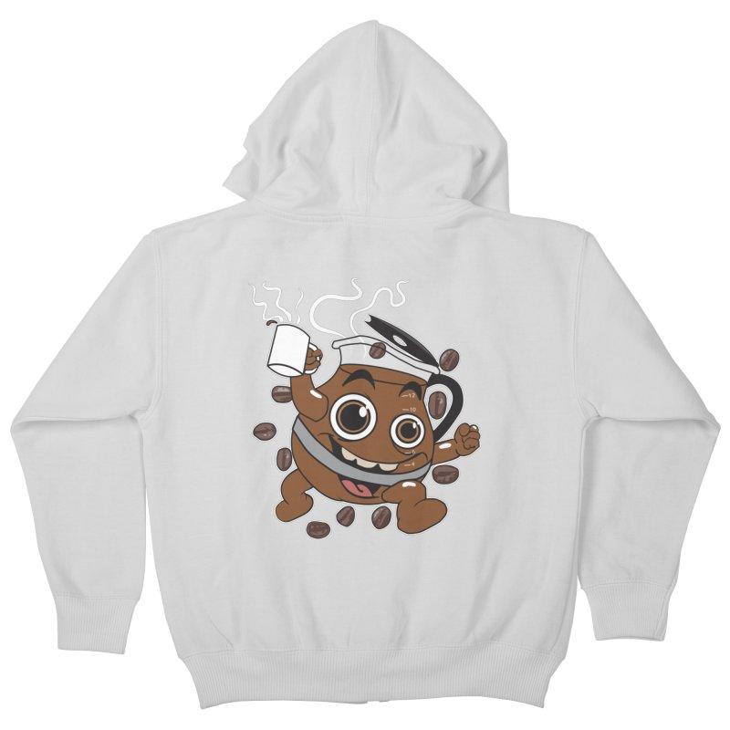 Coffee! Kids Zip-Up Hoody by dansmash's Artist Shop